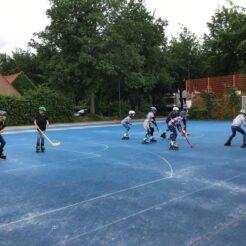 Hockey mit Inlinern